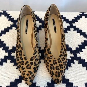 Zara leopard print block heels size 37 (7)